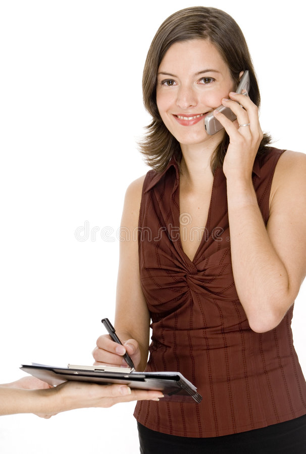 Busy Businesswoman royalty free stock photo