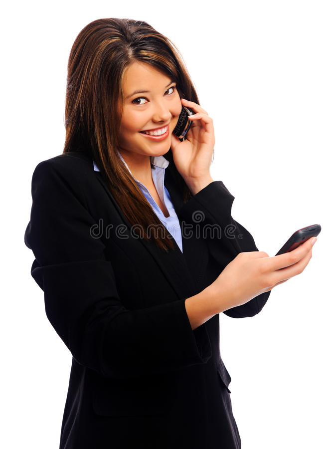 Busy Businesswoman Royalty Free Stock Image