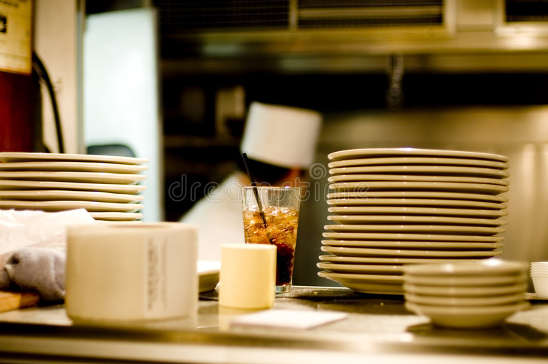 Busy chef royalty free stock photos