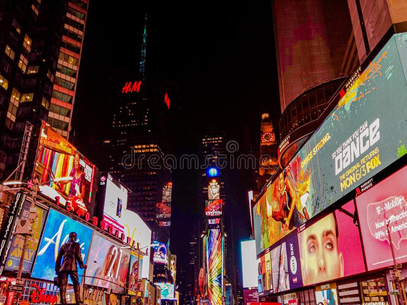 Busy City with Bright Lights New York royalty free stock photography