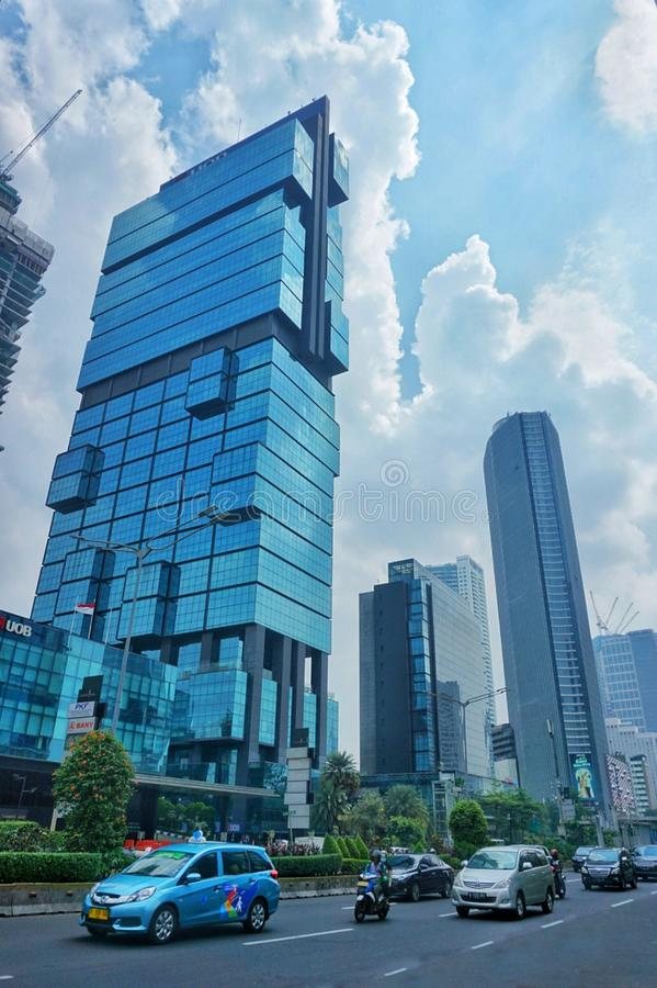 The busy city called is Jakarta stock illustration