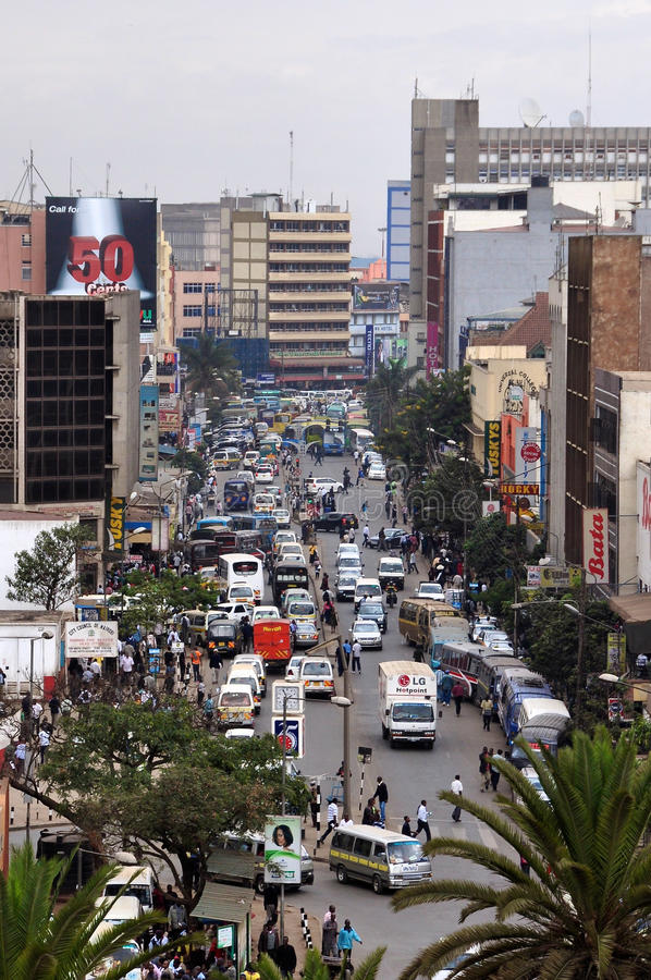The Busy City of Nairobi royalty free stock images
