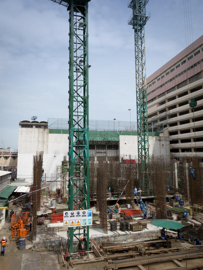 Download Busy construction site stock image. Image of ground, heat - 20933949