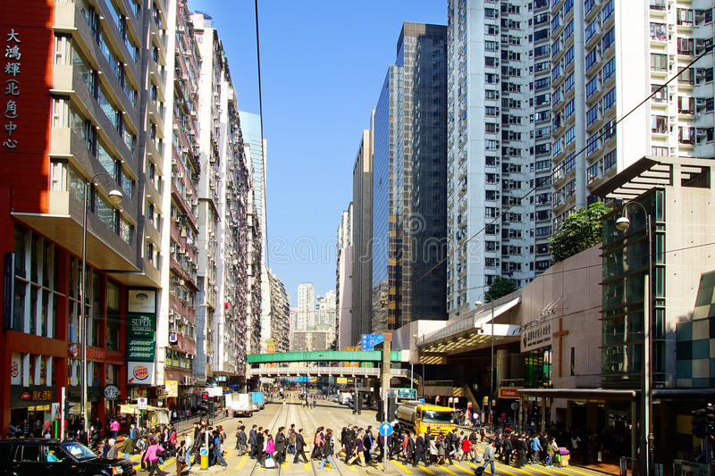 Download Busy Crossing Street In Hong Kong. Editorial Photography - Image: 29752467