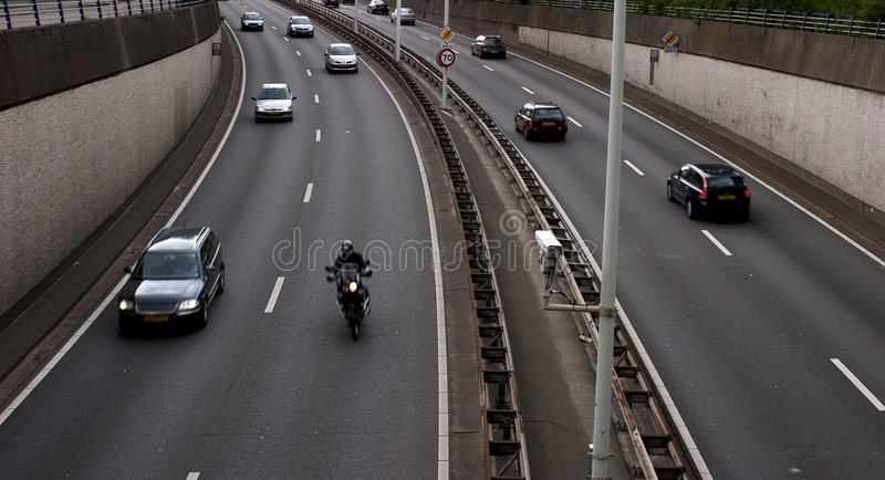 Busy Freeway Royalty Free Stock Images