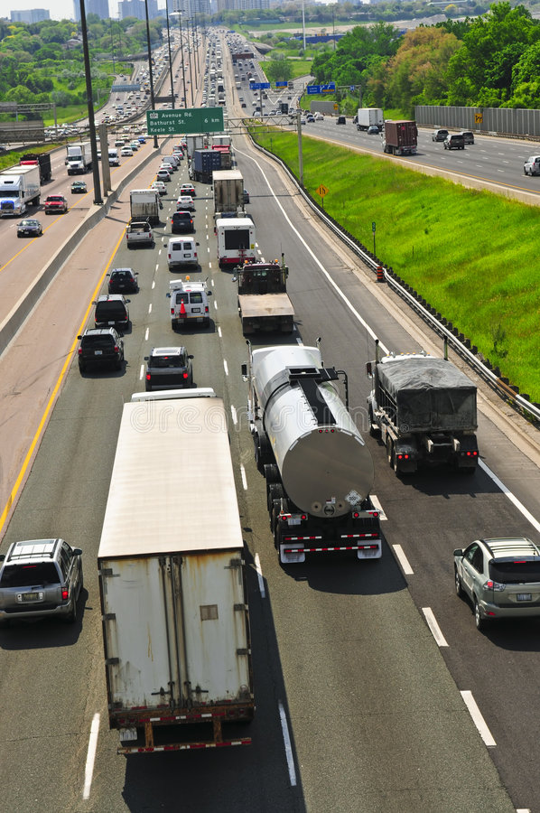 Download Busy highway stock image. Image of perspective, modern - 5461447