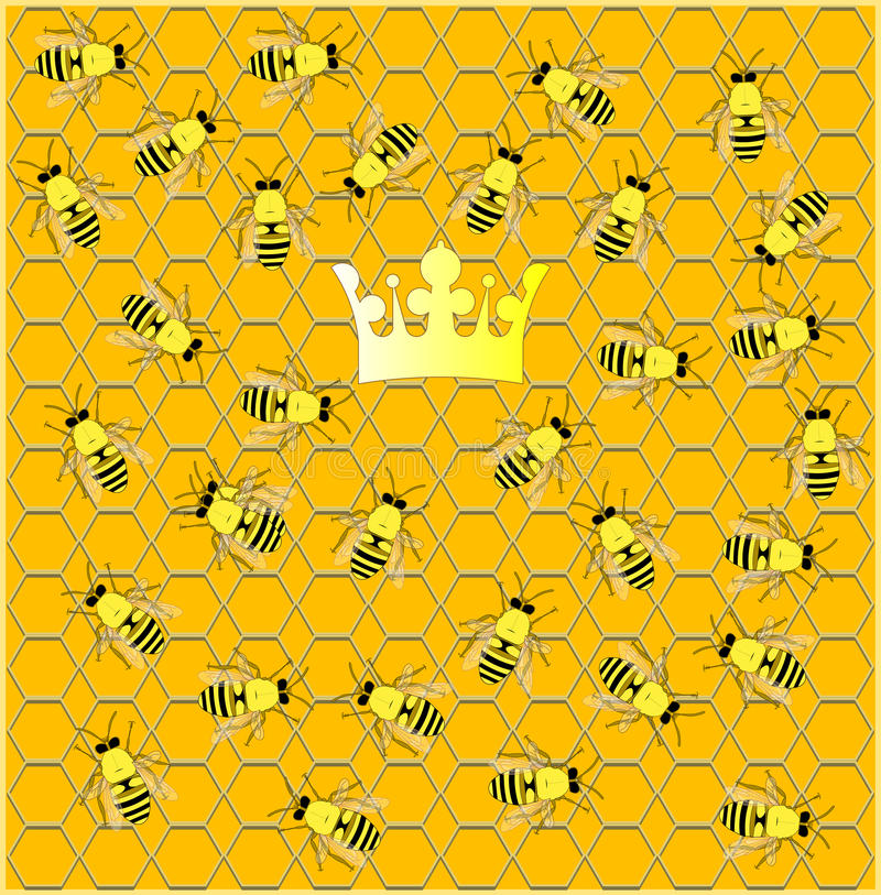 Download Busy hive. stock vector. Image of crown, hive, clip, object - 13166045