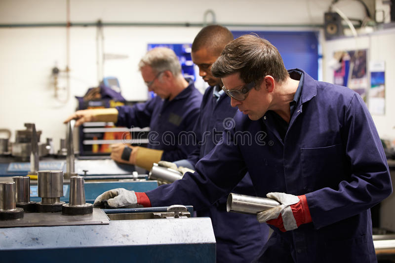 Download Busy Interior Of Engineering Workshop Stock Photo - Image of fifties, manufacturing: 34160592