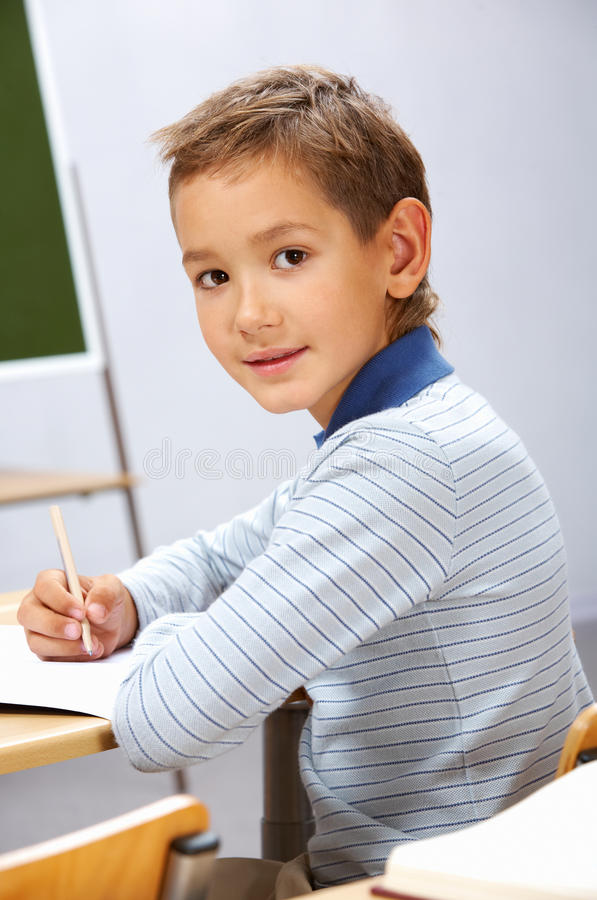 Download Busy lad stock image. Image of primary, cute, portrait - 23973973