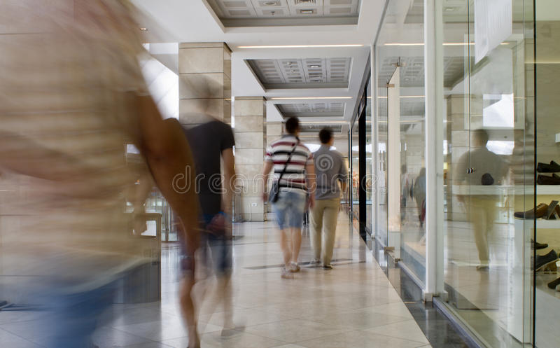 Busy mall stock photography