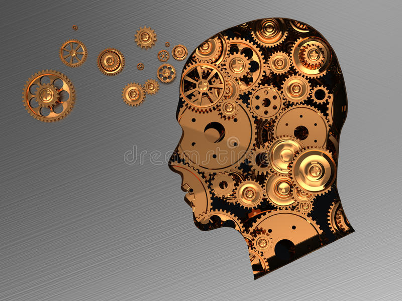 Busy mind royalty free illustration