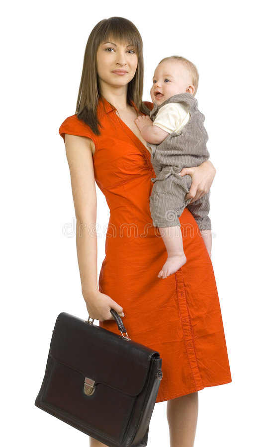 Busy mom stock photo