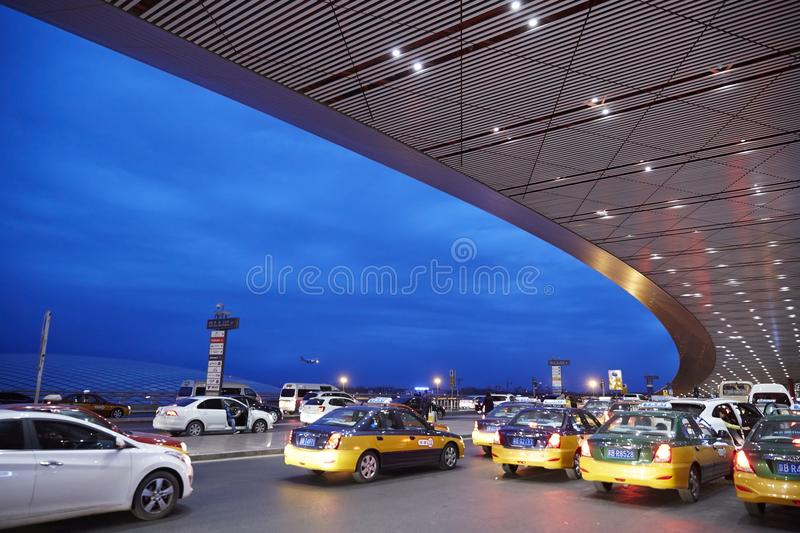 Busy morning of airport stock images