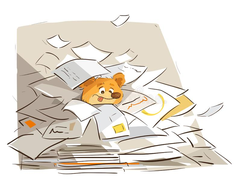 Busy Office Life. When you don`t shred your junk mail for two day