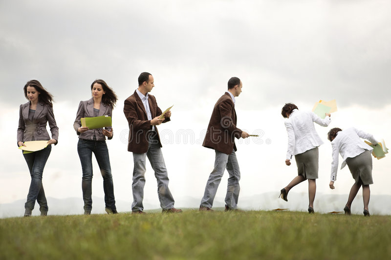 Busy people on the move royalty free stock photography