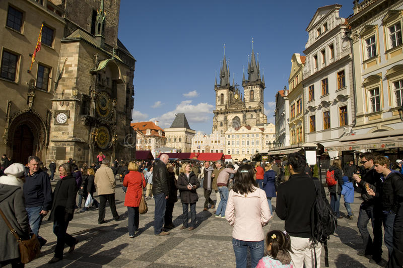 Busy Prague stock images