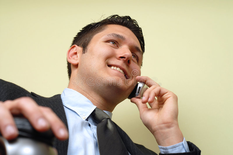 Busy professional stock image