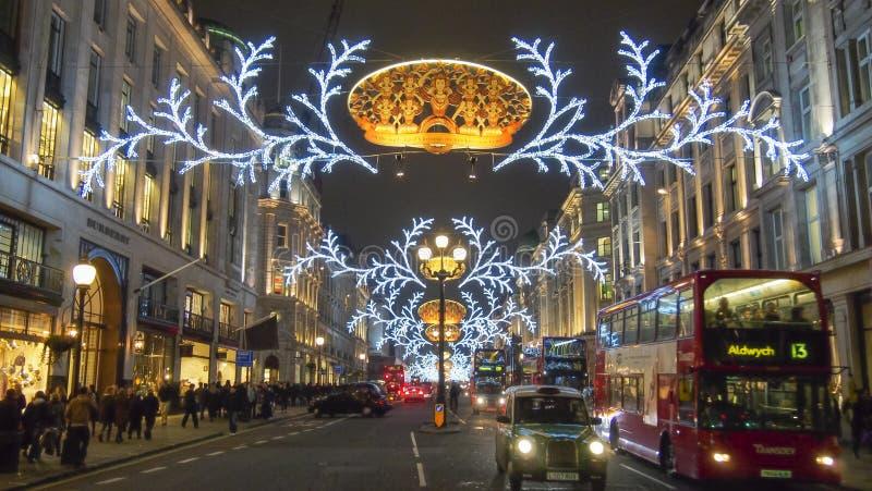 London Christmas decoration 2012 stock image