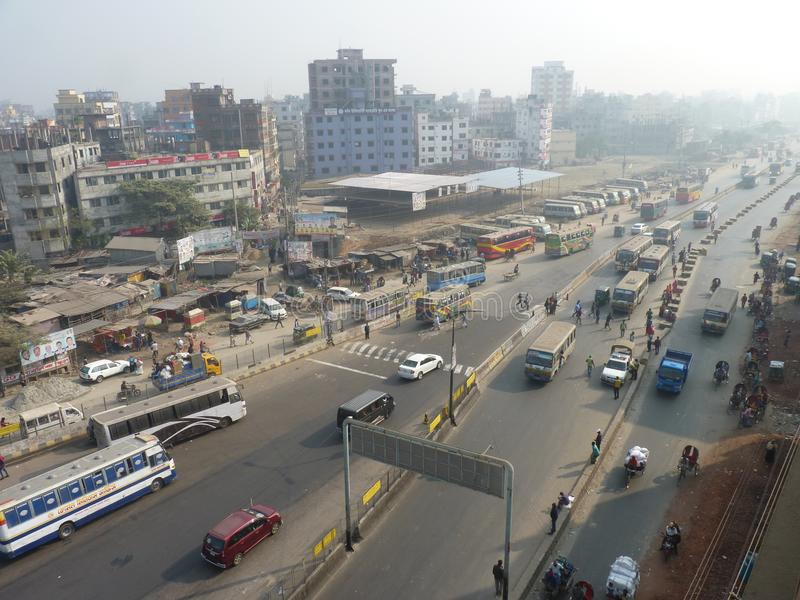 Busy road of Dhaka Bangladesh. Long road long drive enjoy of the bangladesh.well come to our dhaka bangladesh stock photos
