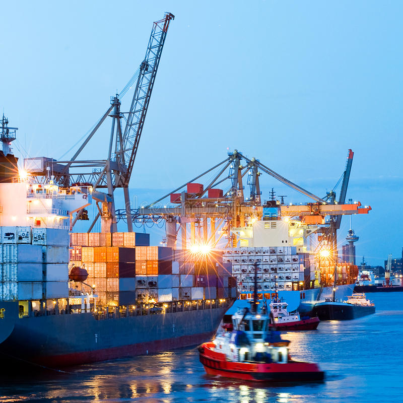 Busy Seaport stock photography