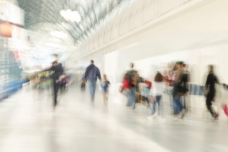 Busy shopping centre stock photo