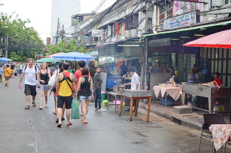 Busy street in Bangkok Thailand stock photo