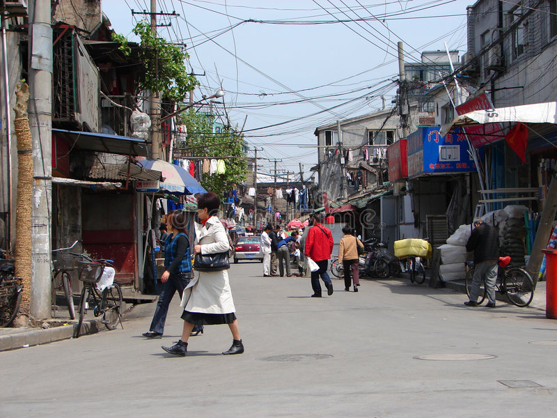 Busy street in China royalty free stock photos