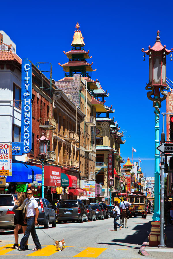 Download Busy Street, Chinatown, San Francisco Editorial Photo - Image of exotic, chinese: 20632556