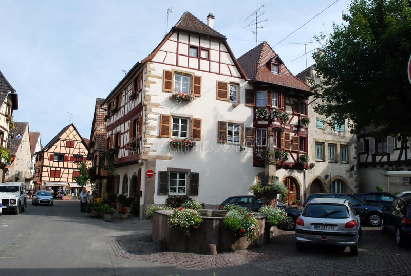 Download Busy Street In Eguisheim , Alsace Province Editorial Photo - Image: 27134311