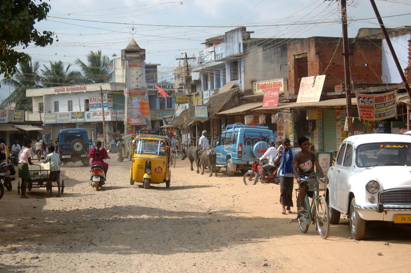 Busy street in India royalty free stock photography