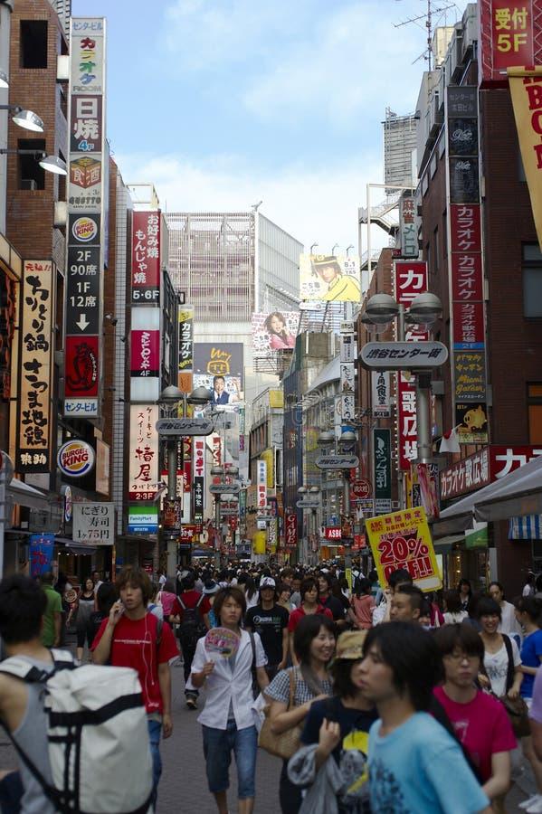 Busy street scene Tokyo stock photo