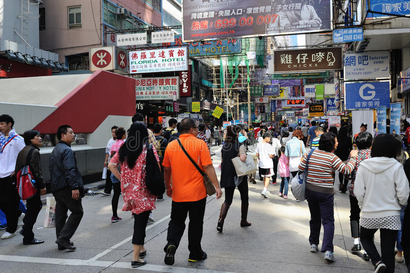 Busy Street Scenes From Hong Kong Editorial Stock Photo