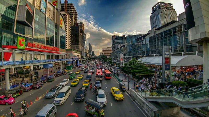 Busy streets of Bangkok stock photo