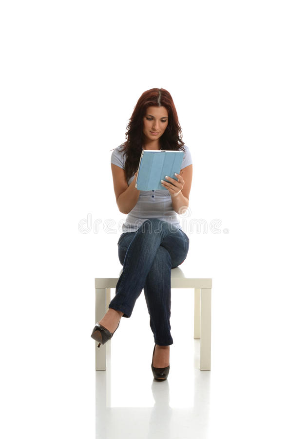 Download Busy with Tablet stock photo. Image of wireless, tablet - 25575680