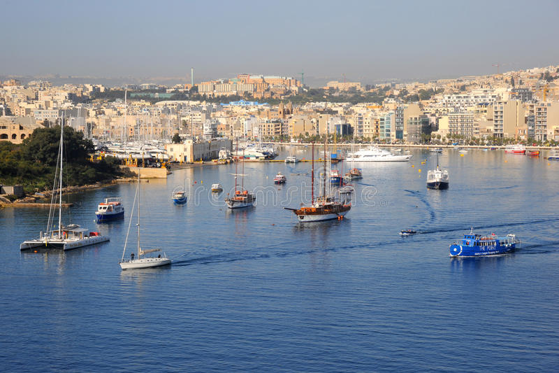 Sliema And Harbor, Malta. Editorial Stock Photo