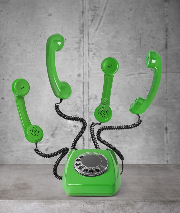 Busy vintage telephone royalty free illustration
