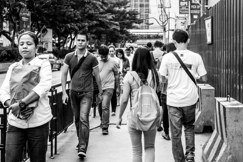 Busy walking stock photo