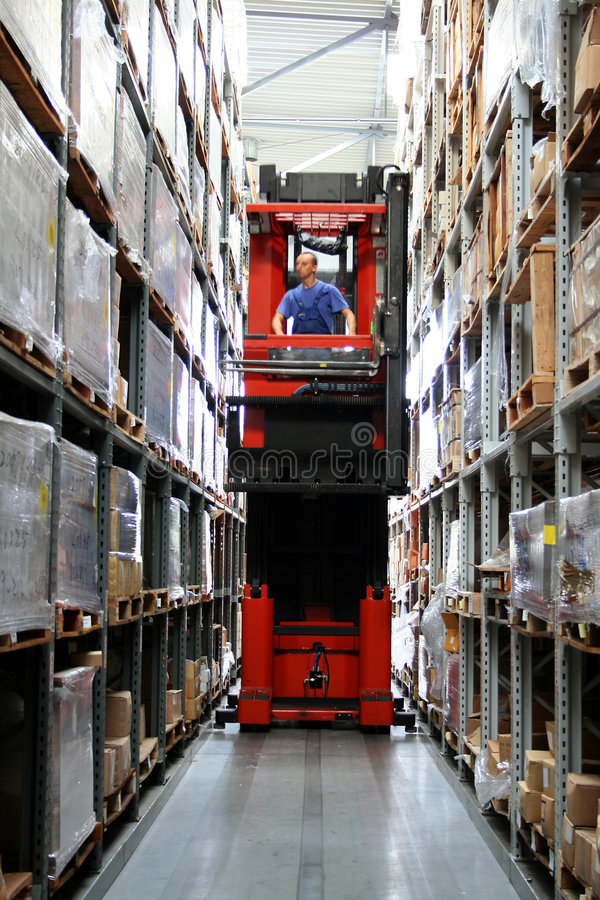 Download Busy warehouse stock image. Image of lift, storage, busy - 3105577