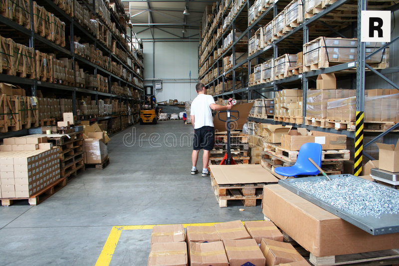 Download Busy Warehouse Stock Image - Image: 3816271