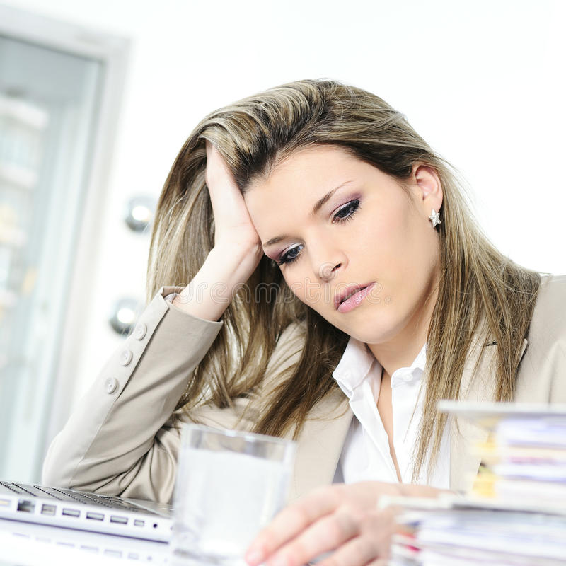 Busy woman royalty free stock photos