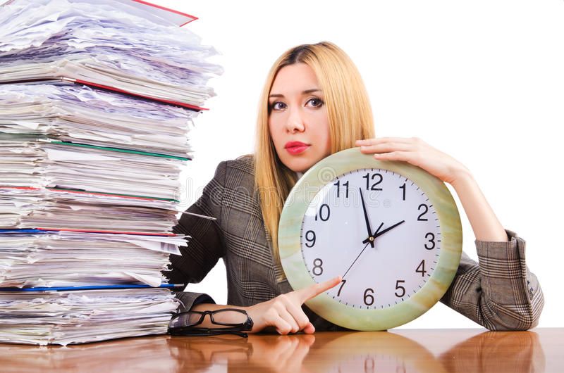 Download Busy woman stock photo. Image of executive, female, binder - 28785528