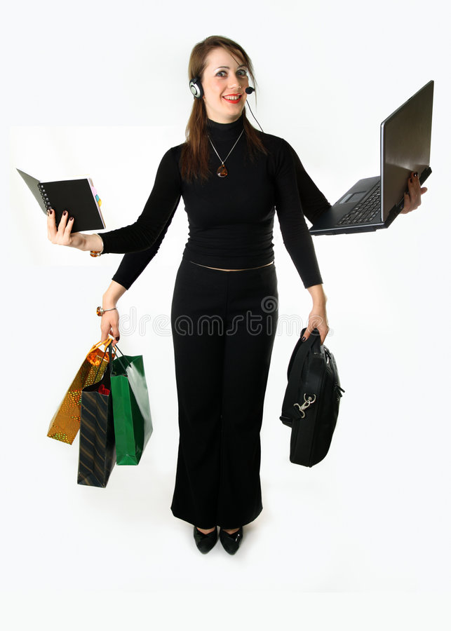 Free Busy Woman Royalty Free Stock Photo - 9233115