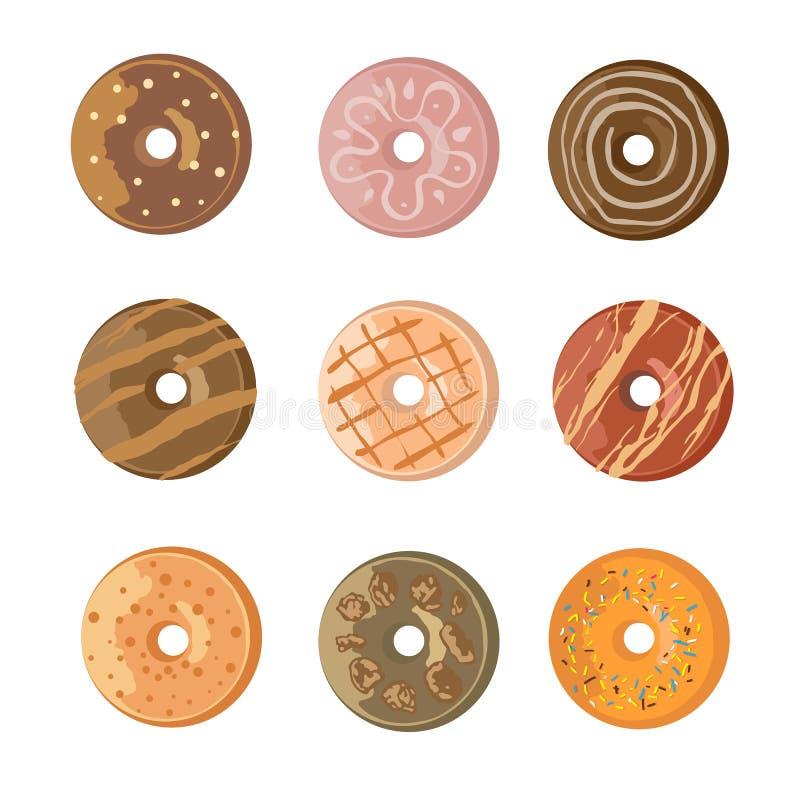 Butées toriques douces de dessert de nourriture images libres de droits
