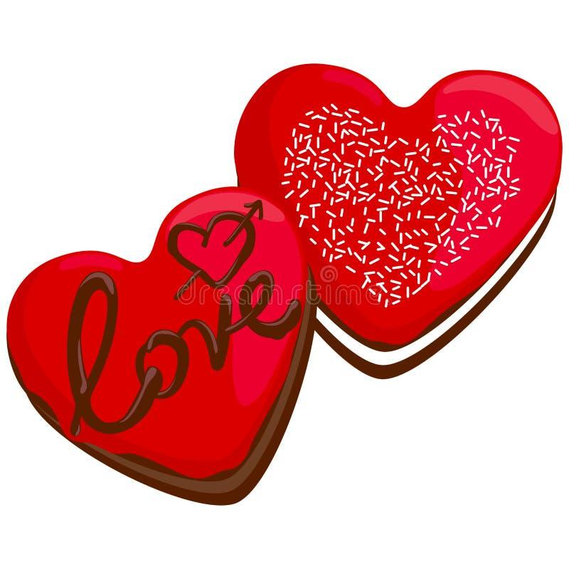 Butées toriques en forme de coeur de Saint-Valentin illustration stock