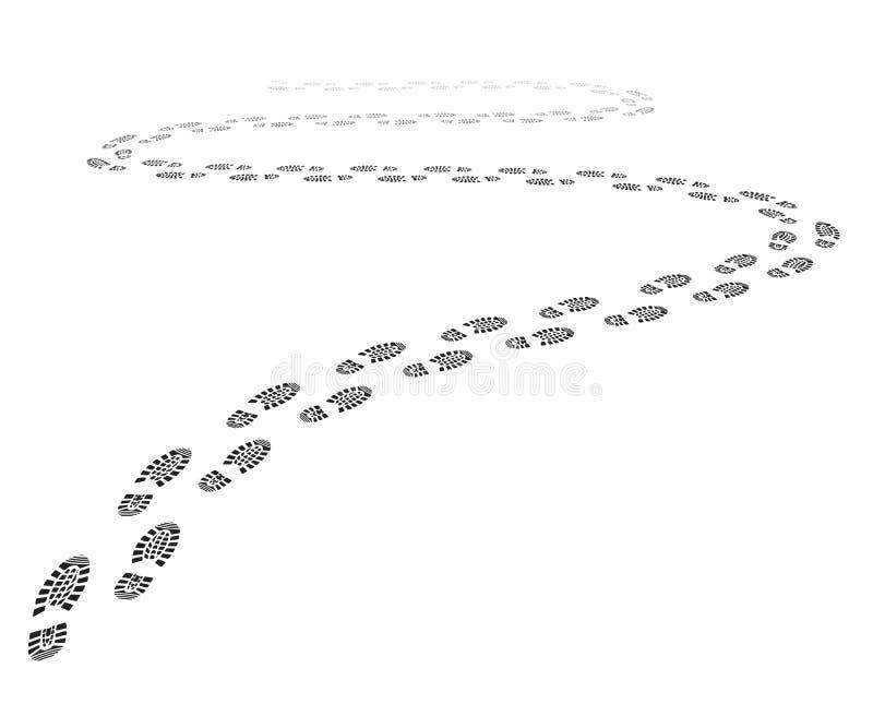 Butów druków ślad royalty ilustracja