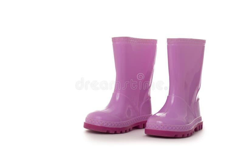 butów dzieciaków menchii deszcz zdjęcie stock