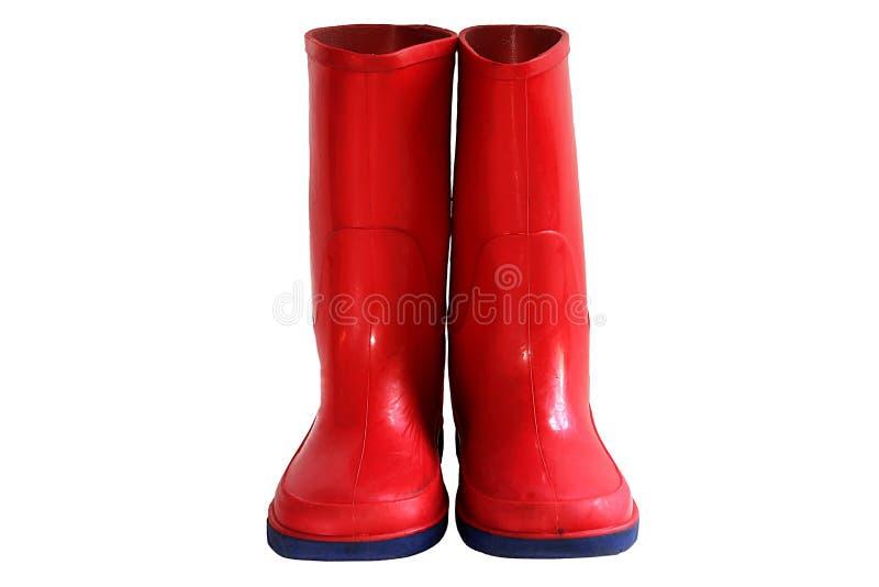 butów dziecka deszczu czerwień s zdjęcia royalty free