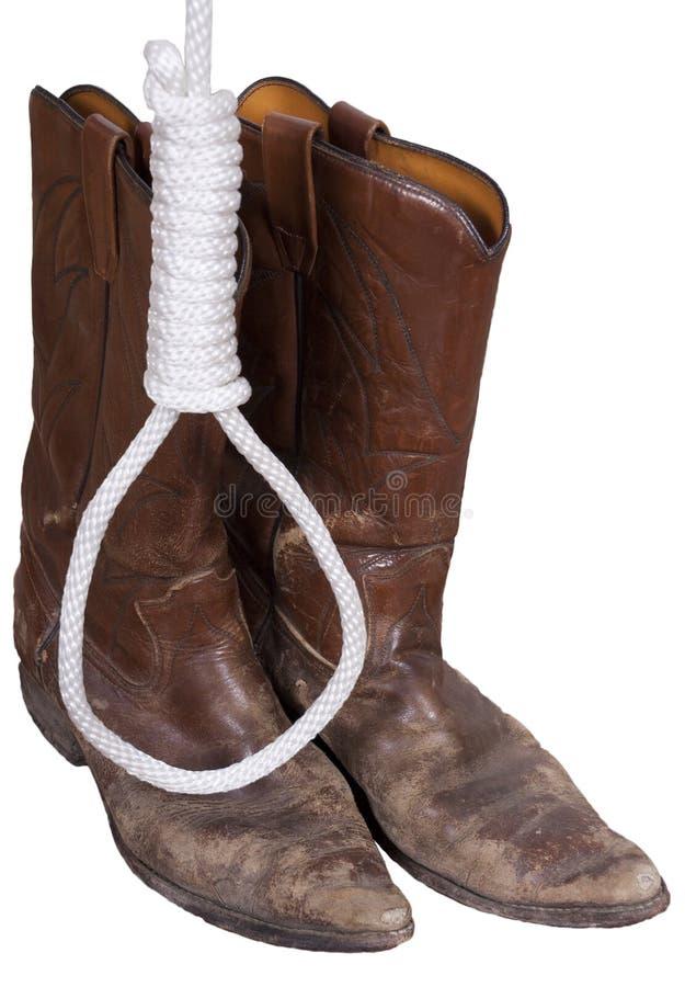butów kowbojskiej hangman kluczki stary linowy zachodni western obrazy royalty free