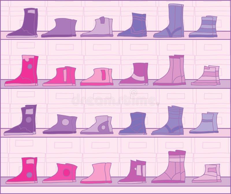 butów stojaki ilustracji