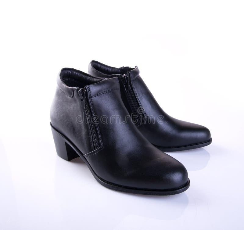 buta lub czerń koloru damy buty na tle zdjęcie royalty free
